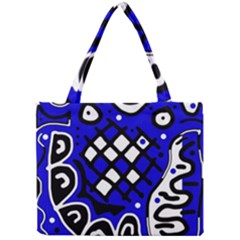 Blue High Art Abstraction Mini Tote Bag by Valentinaart