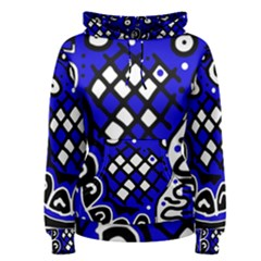 Blue High Art Abstraction Women s Pullover Hoodie by Valentinaart