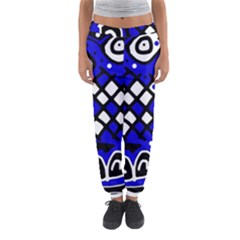 Blue High Art Abstraction Women s Jogger Sweatpants by Valentinaart