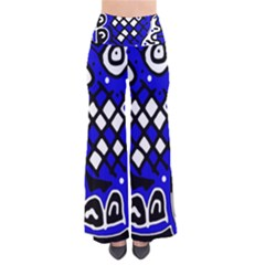 Blue High Art Abstraction Pants