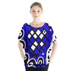Blue High Art Abstraction Blouse by Valentinaart