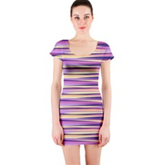 Abstract1 Copy Short Sleeve Bodycon Dress by olgart