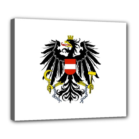 Coat Of Arms Of Austria Deluxe Canvas 24  X 20
