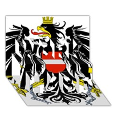 Coat Of Arms Of Austria Work Hard 3d Greeting Card (7x5) by abbeyz71
