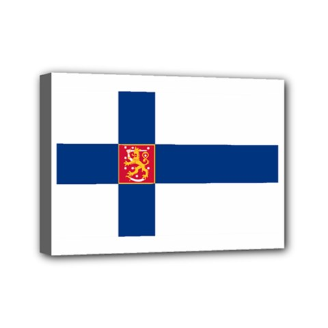 State Flag Of Finland  Mini Canvas 7  X 5  by abbeyz71