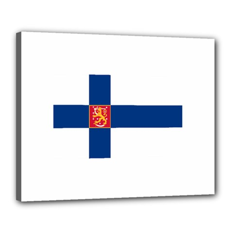 State Flag Of Finland  Canvas 20  X 16  by abbeyz71