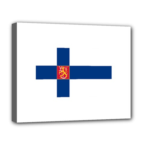 State Flag Of Finland  Deluxe Canvas 20  X 16   by abbeyz71