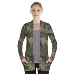 Huntress Camouflage Women s Open Front Pockets Cardigan(p194)