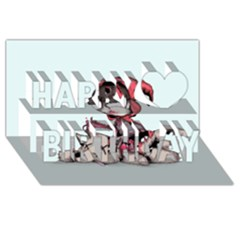 Bad Bitch Red Happy Birthday 3d Greeting Card (8x4) by lvbart