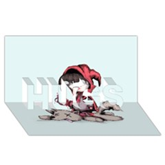 Bad Bitch Red Hugs 3d Greeting Card (8x4) by lvbart