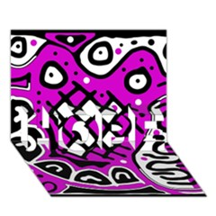 Magenta High Art Abstraction Hope 3d Greeting Card (7x5) by Valentinaart