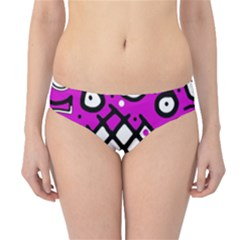 Magenta High Art Abstraction Hipster Bikini Bottoms by Valentinaart