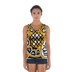 Yellow High Art Abstraction Women s Sport Tank Top  by Valentinaart