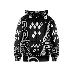 Black And White High Art Abstraction Kids  Zipper Hoodie by Valentinaart