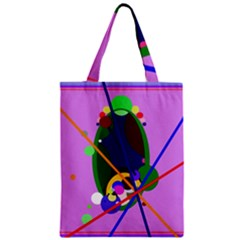Pink Artistic Abstraction Classic Tote Bag by Valentinaart