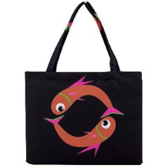 Orange Fishes Mini Tote Bag by Valentinaart