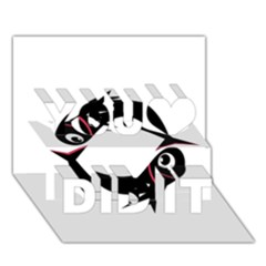Black Fishes You Did It 3d Greeting Card (7x5)