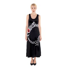 Abstract Fishes Sleeveless Maxi Dress by Valentinaart