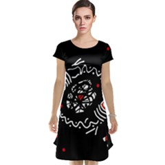 Abstract Fishes Cap Sleeve Nightdress by Valentinaart