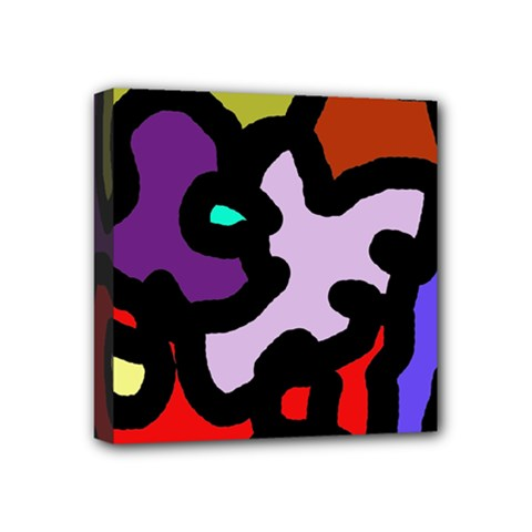 Colorful Abstraction By Moma Mini Canvas 4  X 4  by Valentinaart