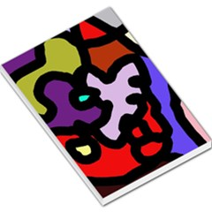 Colorful Abstraction By Moma Large Memo Pads by Valentinaart