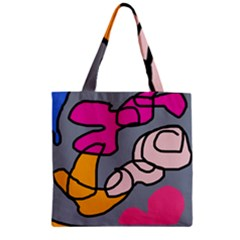 Colorful Abstract Design By Moma Zipper Grocery Tote Bag by Valentinaart