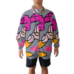 Colorful Abstract Design By Moma Wind Breaker (kids) by Valentinaart