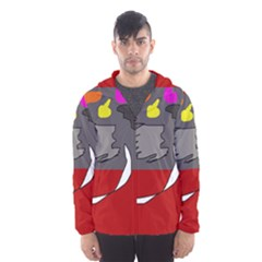 Red Abstraction By Moma Hooded Wind Breaker (men) by Valentinaart