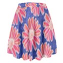 Pink Daisy Pattern High Waist Skirt View2