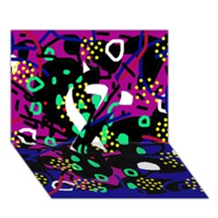 Abstract Colorful Chaos Ribbon 3d Greeting Card (7x5) by Valentinaart