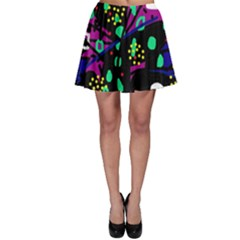 Abstract Colorful Chaos Skater Skirt by Valentinaart