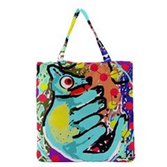 Abstract Animal Grocery Tote Bag by Valentinaart