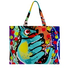 Abstract Animal Zipper Mini Tote Bag by Valentinaart