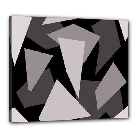 Simple Gray Abstraction Canvas 24  X 20  by Valentinaart