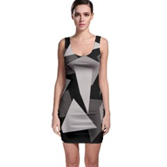 Simple Gray Abstraction Sleeveless Bodycon Dress by Valentinaart