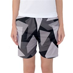 Simple Gray Abstraction Women s Basketball Shorts by Valentinaart
