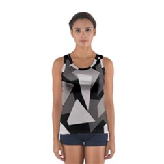 Simple Gray Abstraction Women s Sport Tank Top  by Valentinaart