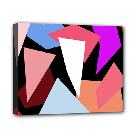 Colorful Geometrical Design Canvas 10  X 8  by Valentinaart