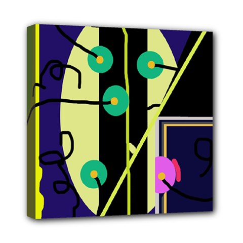 Crazy Abstraction By Moma Mini Canvas 8  X 8  by Valentinaart