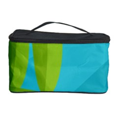 Green And Blue Landscape Cosmetic Storage Case by Valentinaart