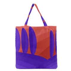Purple And Orange Landscape Grocery Tote Bag by Valentinaart