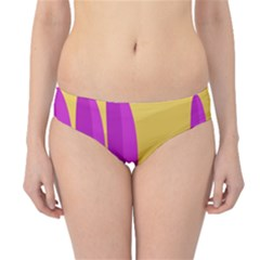 Yellow And Magenta Landscape Hipster Bikini Bottoms by Valentinaart