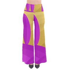 Yellow And Magenta Landscape Pants by Valentinaart