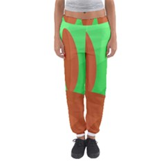 Green And Orange Landscape Women s Jogger Sweatpants by Valentinaart
