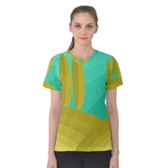 Green And Yellow Landscape Women s Cotton Tee by Valentinaart