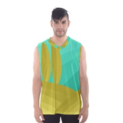 Green And Yellow Landscape Men s Basketball Tank Top by Valentinaart