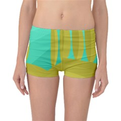 Green And Yellow Landscape Boyleg Bikini Bottoms by Valentinaart
