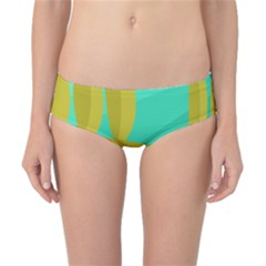 Green And Yellow Landscape Classic Bikini Bottoms by Valentinaart