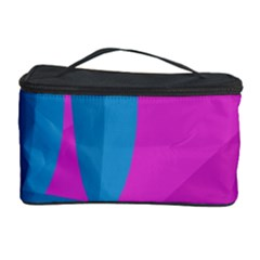Pink And Blue Landscape Cosmetic Storage Case by Valentinaart