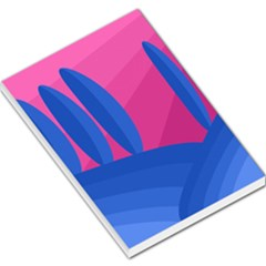 Magenta And Blue Landscape Large Memo Pads by Valentinaart